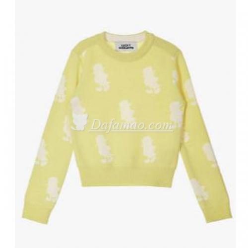 申世京同款黄色套头毛衣